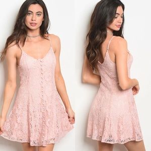 NWT $75 Lace Skater Cami Mini Dress free people